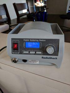 A shoddy RadioShack soldering station.